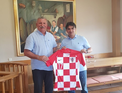 The Croatian Football Team's coach, Mr. Zlatko Dalić visited Andrija Wine Cellars