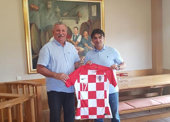 Izbornik hrvatske nogometne reprezentacije gospodin Zlatko Dalić posjetio podrume Andrija