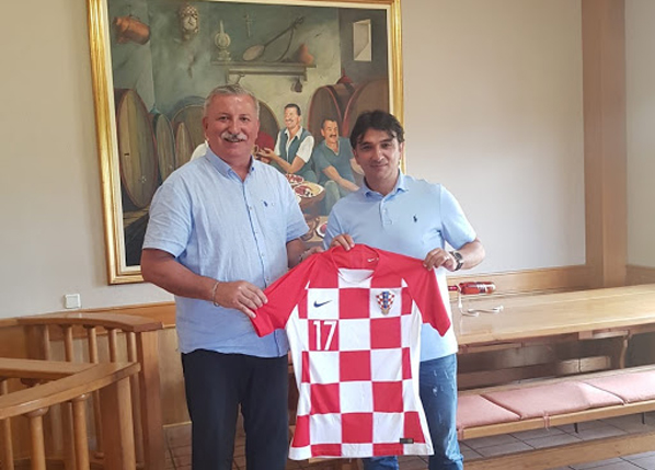 The Croatian Football Team's coach, Mr. Zlatko Dalić visited Andrija Wine Cellars