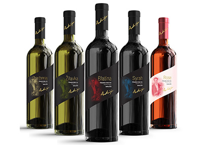 Andrija wine in a new design